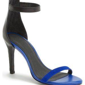 Joie Abbott Zipper Colorblock Strap Sandal Heels